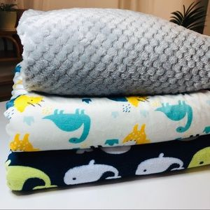 Soft Plush Baby Blanket Bundle